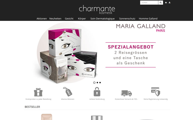 Online Shop Maria Galland